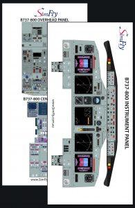 B737-800 cockpit poster set