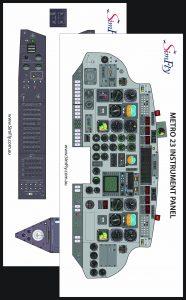 Metro 3 Circuit Breaker Panel and Pedestal cockpit poster set