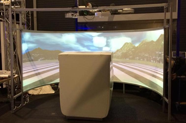 Cessna 172 flight simulator visuals