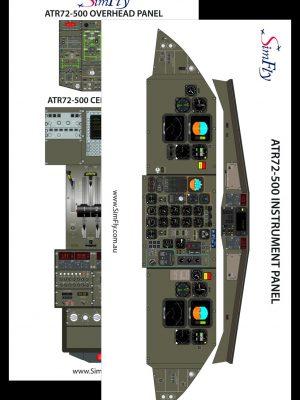 ATR 72-500 cockpit poster set