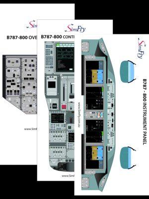 B787-800 3 page cockpit poster set