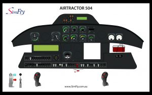 Airtactor 504 cockpit poster