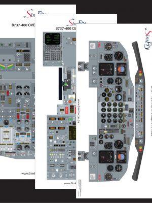B737-400 3 page cockpit poster set