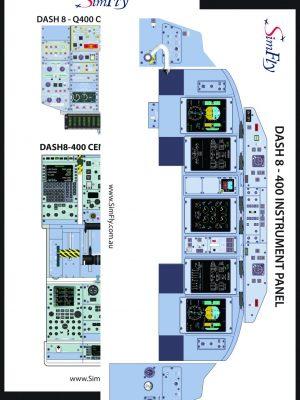 DASH 8-400 Overhead Panel cockpit poster