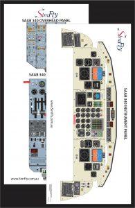 SAAB 340 2 page cockpit poster set