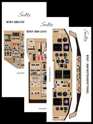 B767 overhead panel poster