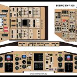 Boeing B767-300 Student Desk Top Poster