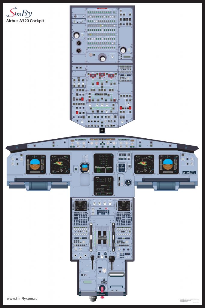 Airbus A320 1 Page Wall Poster - Simfly