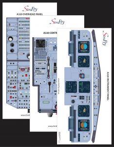 A320 3 page cockpit poster set