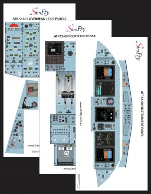 ATR 72-500 3 page cockpit poster set