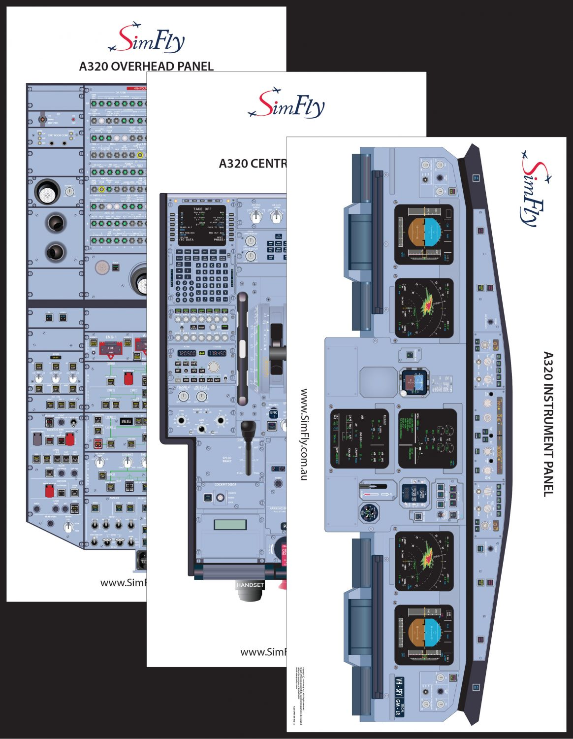 Airbus A320 3 Page Poster Set