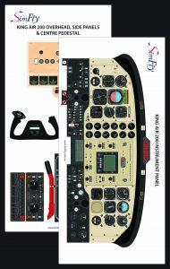 King Air 200 Instrumental cockpit poster