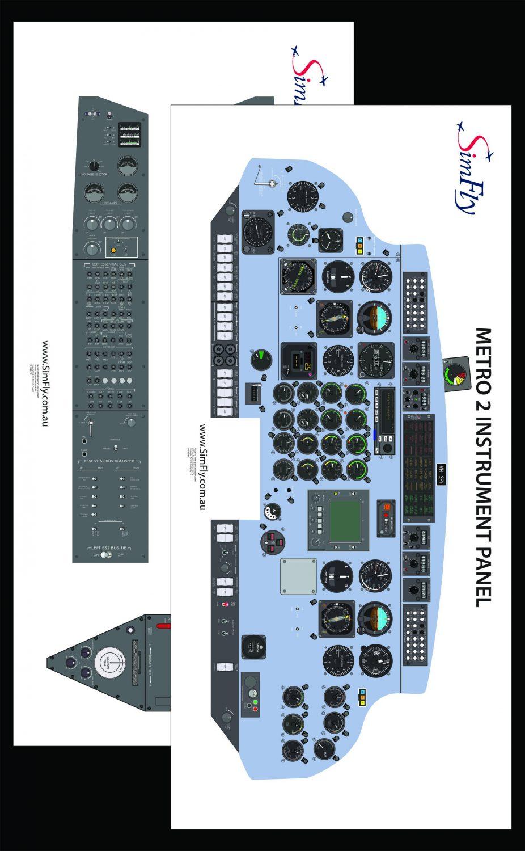 Metro 2 Instrumental cockpit poster set