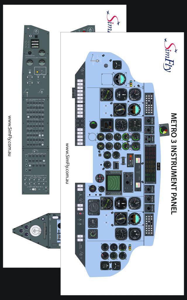 Metro 3 Instrumental cockpit poster set