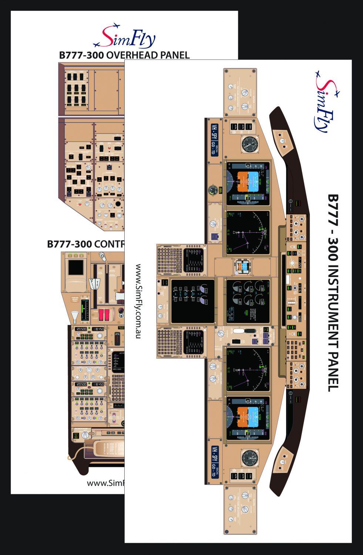 B773 Cockpit Poster set