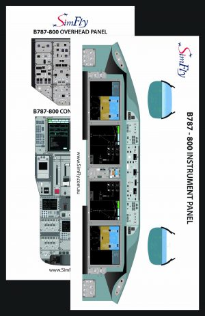 B787-800 Instrumental cockpit poster