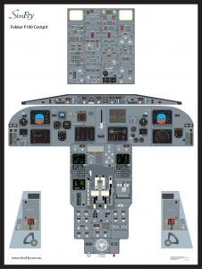 Fokker F100 1 page poster