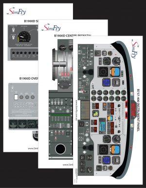 B1900D 3 page cockpit poster set