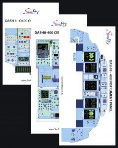 DASH 8-400 Instrumental Panel cockpit poster