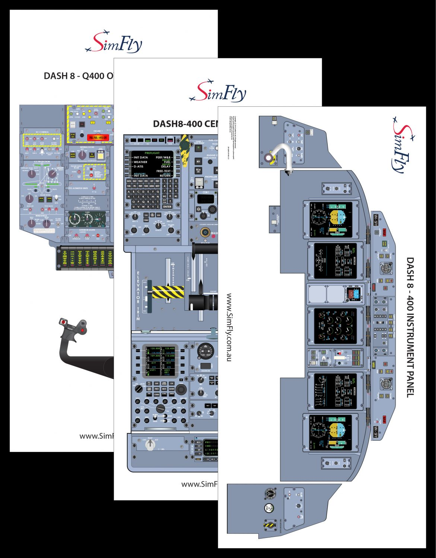 Bombardier Dash 8-q400 3 Page Poster Set