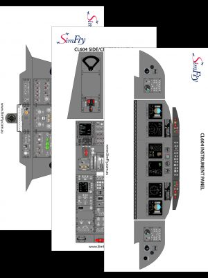 CL604 Overhead panel poster set