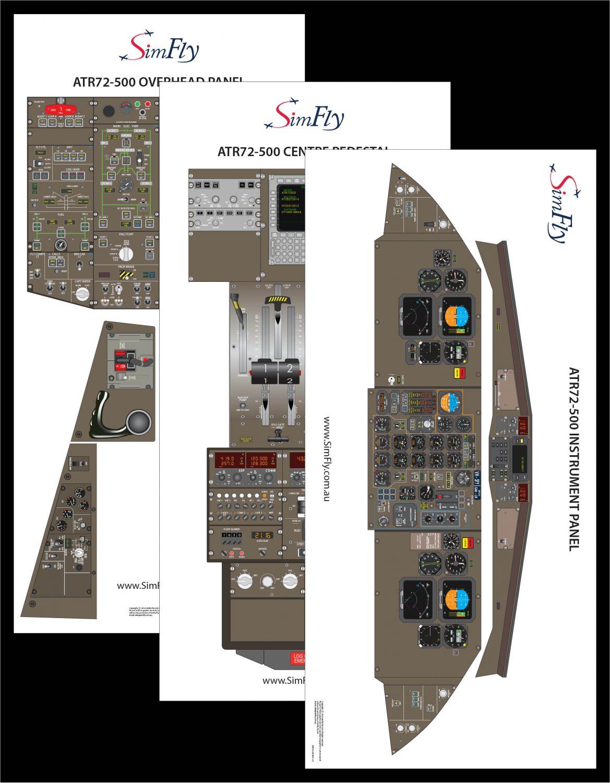 ATR 72-500 3 page poster set